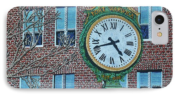 Clock At Port Warwick Phone Case by Micah Mullen
