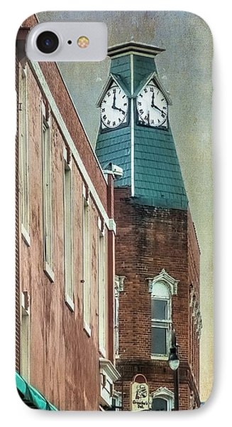 Clock Tower Downtown Statesville North Carolina IPhone Case