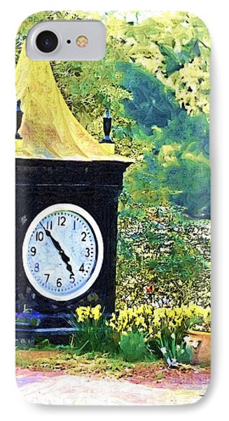 IPhone Case featuring the photograph Clock Tower In The Garden by Donna Bentley