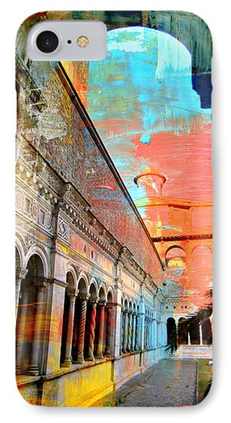 Cloister In Rome IPhone Case by Mindy Newman