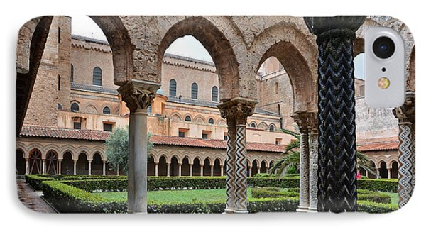 Cloister Of The Abbey Of Monreale. Phone Case by RicardMN Photography