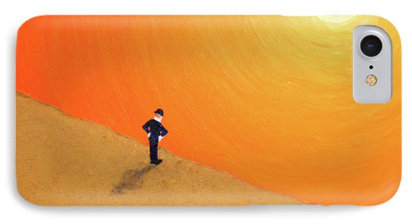 IPhone Case featuring the painting Close To The Edge by Thomas Blood