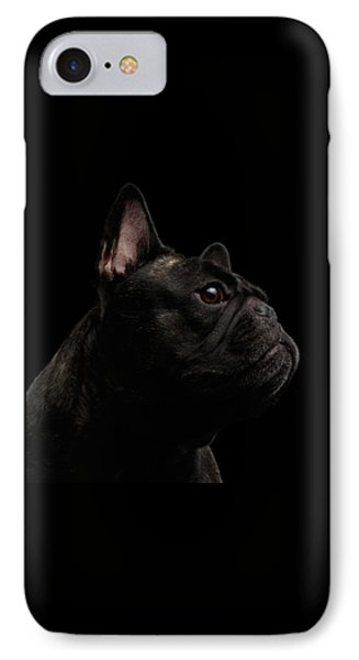 Close-up French Bulldog Dog Like Monster In Profile View Isolated IPhone Case