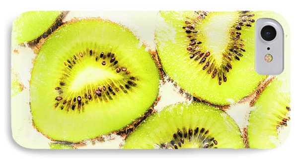 Close Up Of Kiwi Slices IPhone 7 Case by Jorgo Photography - Wall Art Gallery