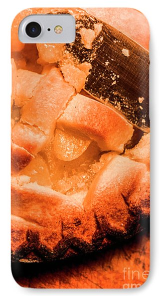 Close Up Of Knife Cutting Into Pie IPhone Case by Jorgo Photography - Wall Art Gallery