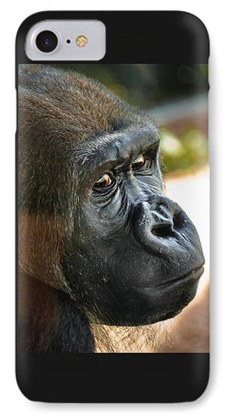 Close Up Portrait Of Gorilla IPhone Case by Aaron Sheinbein