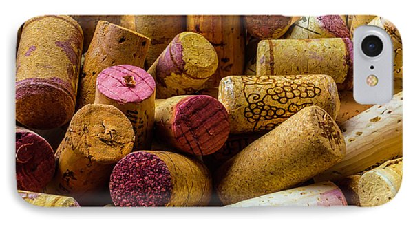 Close Up Wine Corks IPhone Case by Garry Gay