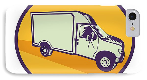 Closed Delivery Van Woodcut IPhone Case