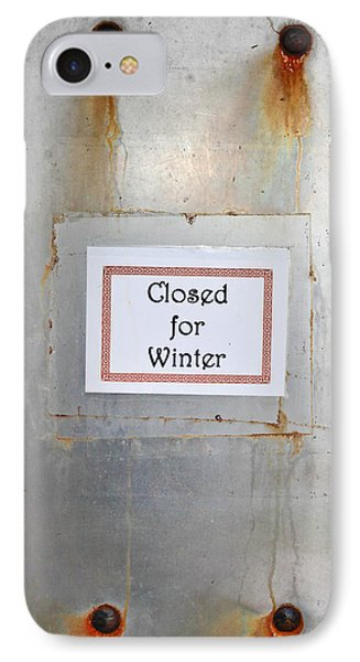 Closed For Winter IPhone Case by Tom Gowanlock