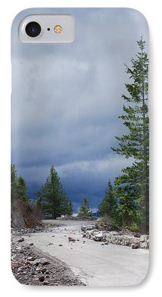 Closed Road IPhone Case by Gene Ritchhart