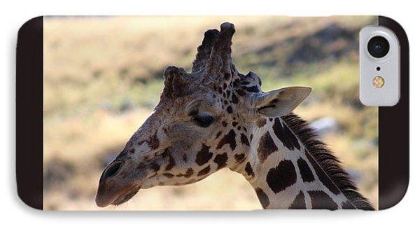 Closeup Of Giraffe Phone Case by Colleen Cornelius
