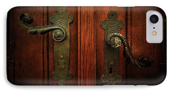 Closeup Of Two Ornamented Handles IPhone Case by Jaroslaw Blaminsky