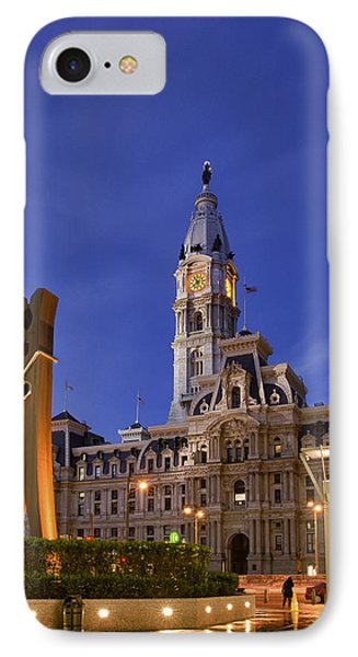 Clothespin And City Hall Phone Case by John Greim