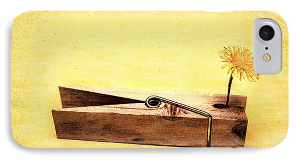 Clothespins And Dandelions IPhone Case by Jorgo Photography - Wall Art Gallery
