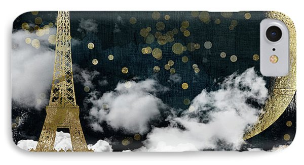 Cloud Cities Paris IPhone Case by Mindy Sommers