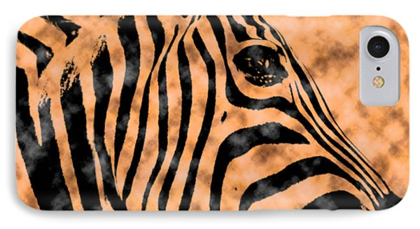 IPhone Case featuring the digital art Cloud Face Zebra by Bartz Johnson
