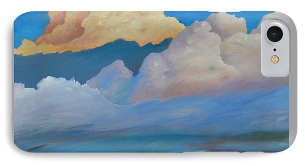 IPhone Case featuring the painting Cloud On The Rise by Gary Coleman