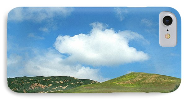 Cloud Over Hills In Spring Phone Case by Kathy Yates