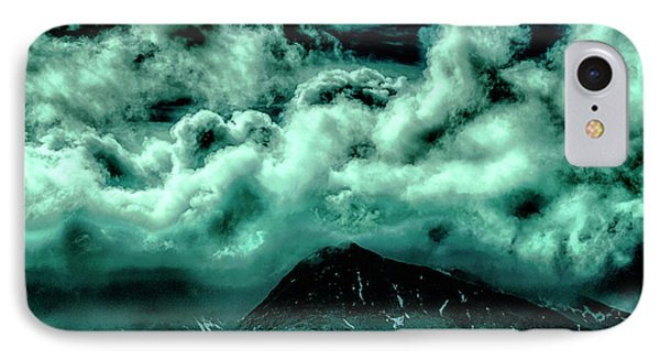 Cloud Strewn - Mysterious Skies IPhone Case by Christopher Maxum