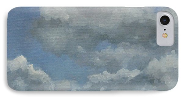 IPhone Case featuring the painting Cloud Study #3 by Jennifer Boswell