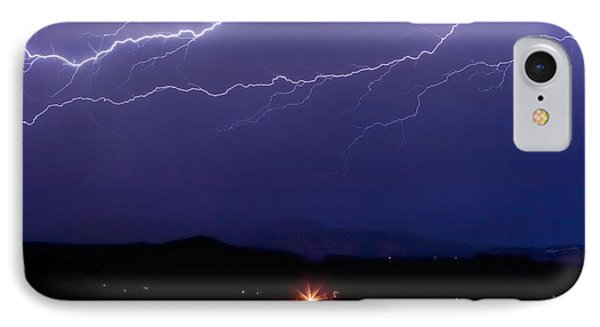 Cloud To Cloud Horizontal Lightning Phone Case by James BO  Insogna