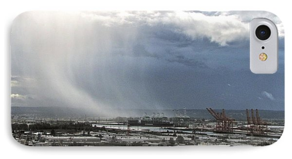 IPhone Case featuring the photograph Cloudburst - Tacoma by Sean Griffin