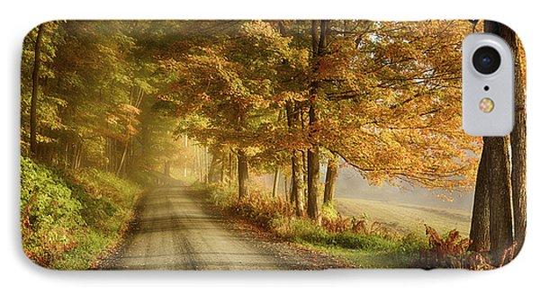 Cloudland Road In Vermont IPhone Case