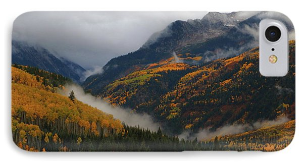 IPhone Case featuring the photograph Clouds And Fog Encompass Autumn At Mcclure Pass In Colorado by Jetson Nguyen