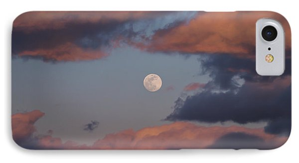 IPhone Case featuring the photograph Clouds And Moon March 2017 by Terry DeLuco
