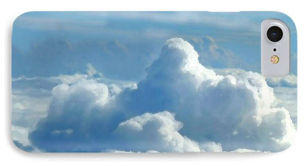 IPhone Case featuring the digital art Clouds And Sky M2 by Francesca Mackenney