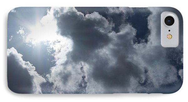 IPhone Case featuring the photograph Clouds And Sunlight by Megan Dirsa-DuBois