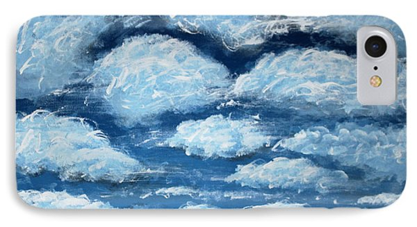 IPhone Case featuring the painting Clouds by Antonio Romero