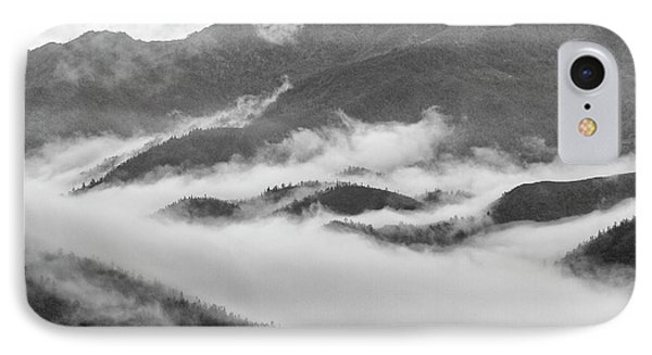 IPhone 7 Case featuring the photograph Clouds In Valley, Sa Pa, 2014 by Hitendra SINKAR