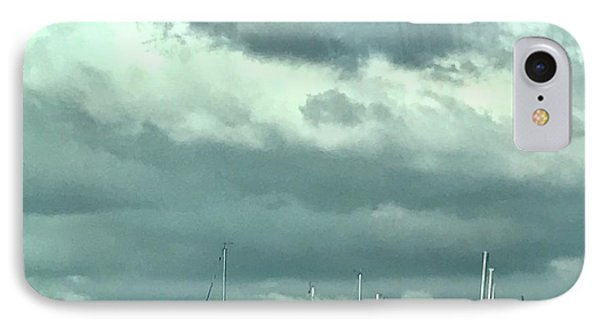 Clouds On The Bay IPhone Case by Kim Nelson