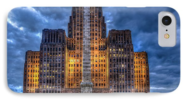 Clouds Over City Hall IPhone Case by Don Nieman