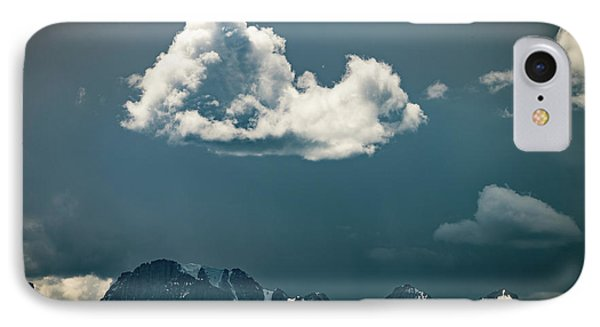 IPhone Case featuring the photograph Clouds Over Glacier, Banff Np by William Lee