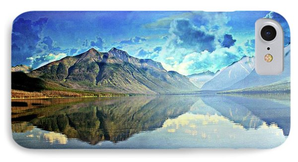 Clouds Over Lake Mcdonald 2 IPhone Case by Marty Koch