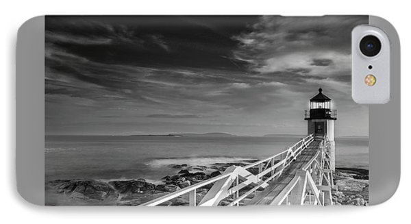 IPhone Case featuring the photograph Clouds Over Marshall Point Lighthouse In Maine by Ranjay Mitra