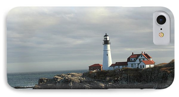 Clouds Over Portland Head Lighthouse 2 IPhone Case by Lou Ford