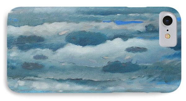 IPhone Case featuring the painting Clouds Over South Bay by Gary Coleman
