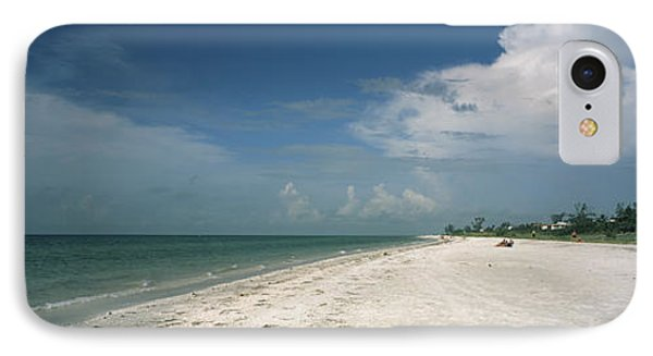 Clouds Over The Beach, Lighthouse IPhone Case by Panoramic Images