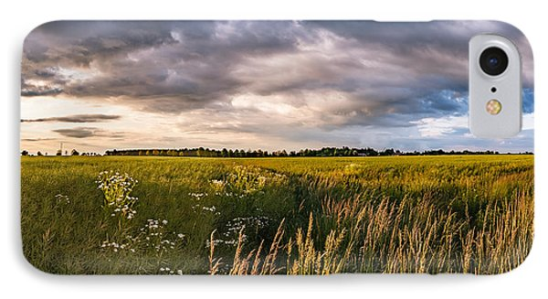 IPhone Case featuring the photograph Clouds Over The Fields by Dmytro Korol