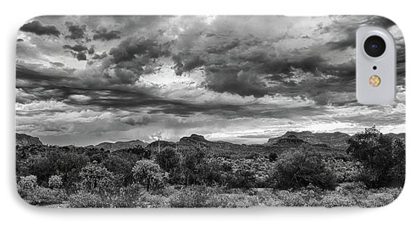 IPhone Case featuring the photograph Clouds Over The Superstitions by Monte Stevens