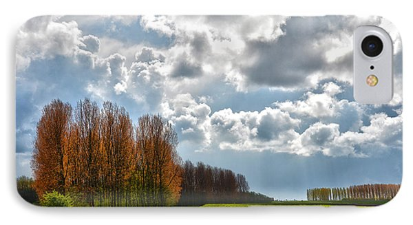 IPhone Case featuring the photograph Clouds Over Voorne by Frans Blok