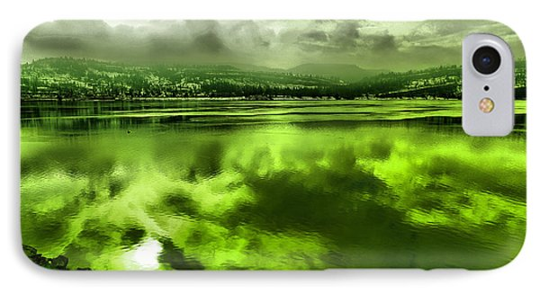 IPhone Case featuring the photograph Clouds Reflecting Off The Columbia  by Jeff Swan