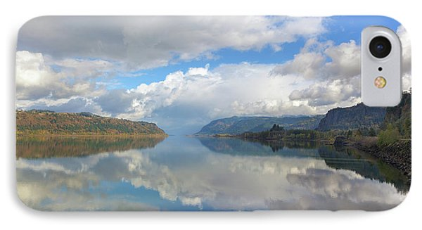 Clouds Reflection On The Columbia River Gorge Phone Case by David Gn