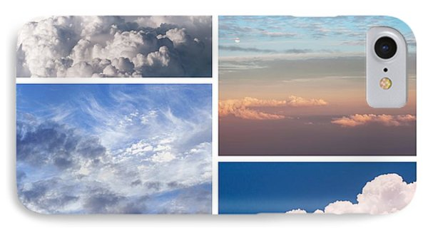 IPhone Case featuring the photograph Cloudscapes Collage by Jenny Rainbow