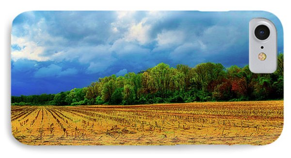 Cloudy Autumn Day IPhone Case