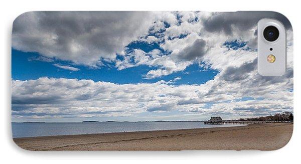 Cloudy Beach Day IPhone Case