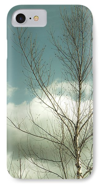 IPhone Case featuring the photograph Cloudy Blue Sky Through Tree Top No 2 by Ben and Raisa Gertsberg